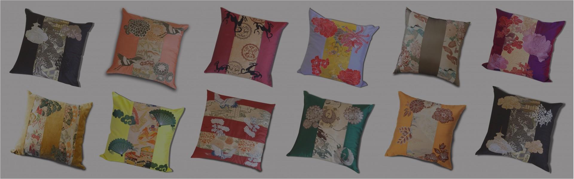 Antique Obi Kimono Cushions