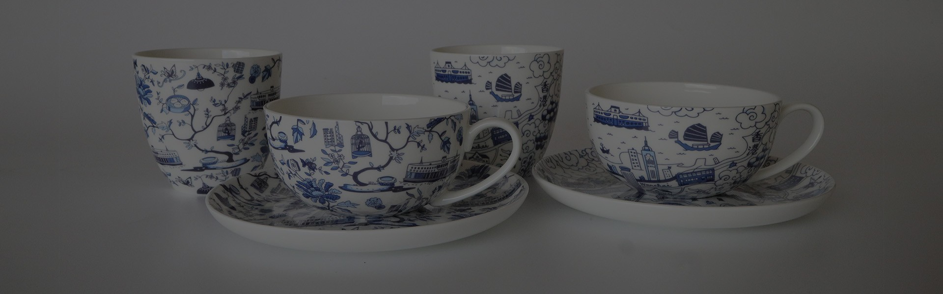Cups and Saucers / East-meets-west Cups