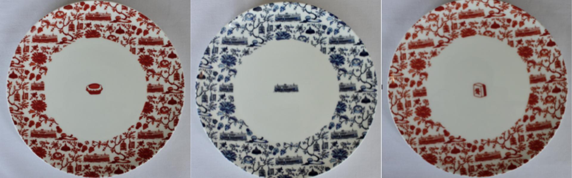 Hong Kong Toile Sides Plates