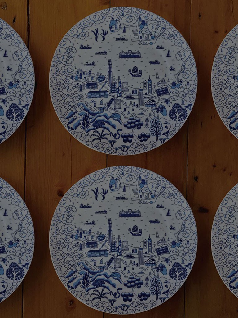 Hong Kong Willow Pattern by Mariko Jesse
