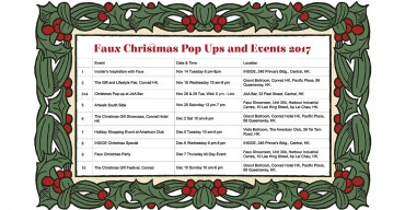 FAUX CHRISTMAS POP UPS AND EVENTS 2017